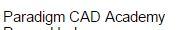 Paradigm CAD Academy