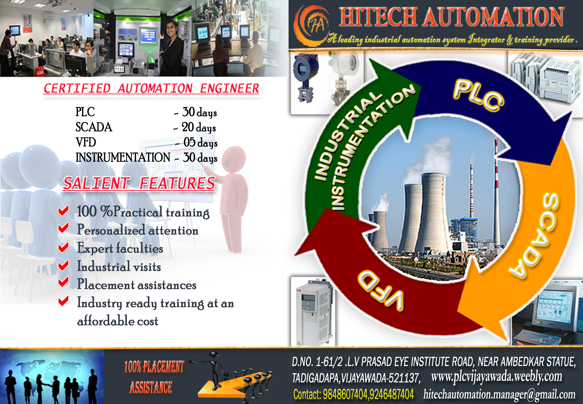 HITECH AUTOMATION Vijayawada City - Industrial Projects Course