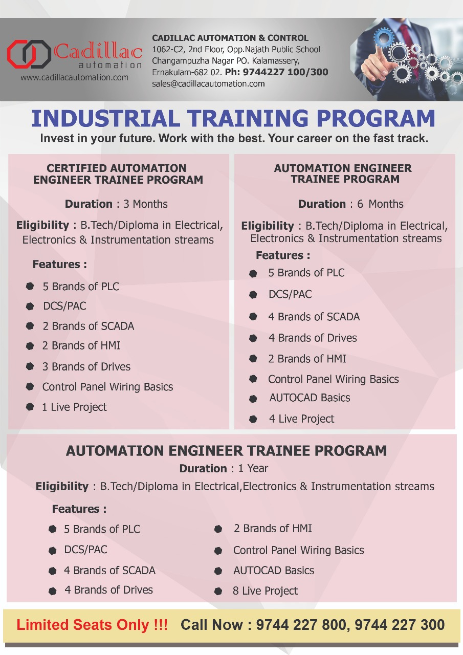 Cadillac Automation & Controls Alwaye - Industrial Automation Course