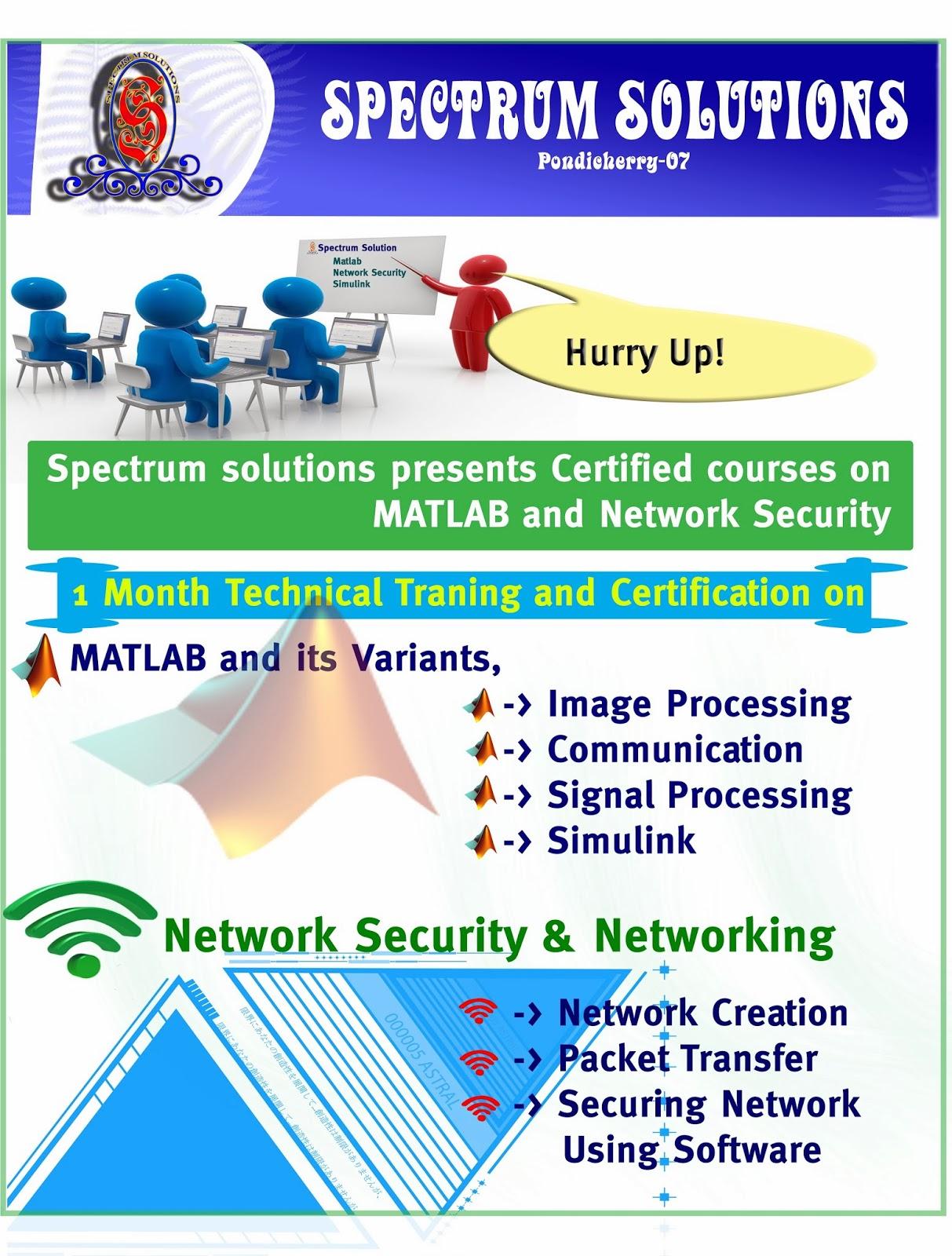 Spectrum Solutions Pondicherry City - MATLAB Course (Batch