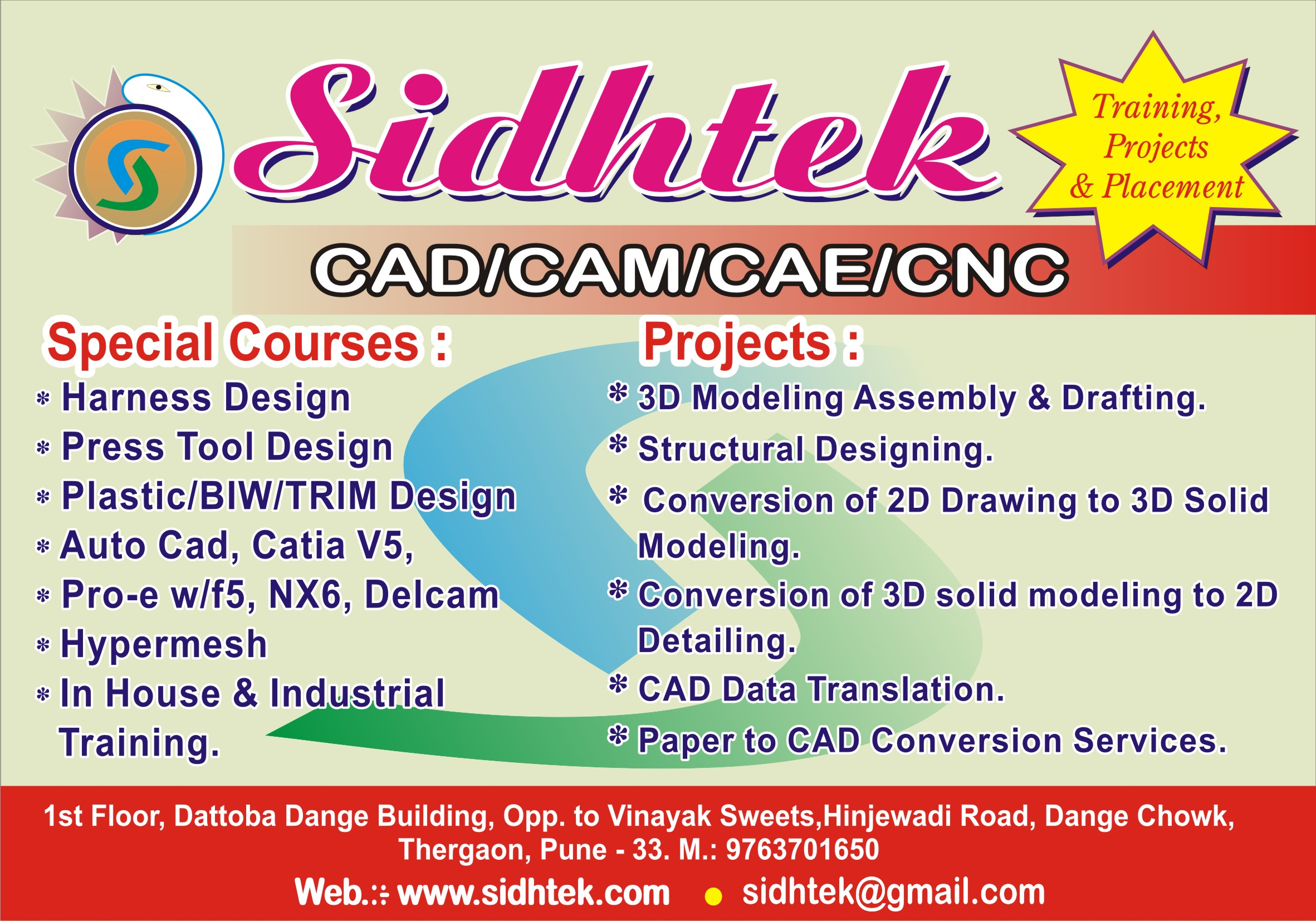 Catia training in pune by sidhtek chinchwad east rdafkpaper ad sidhtekg xflitez Images