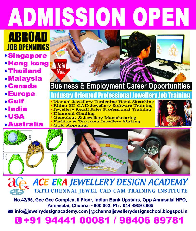Ace Era Jewellery Design Rhino CAD Software Abroad Jobs